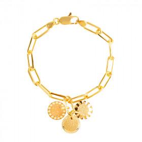 Bracelet chaine Lune Soleil Mars