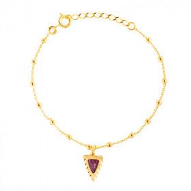 Bracelet Triangle bordeaux