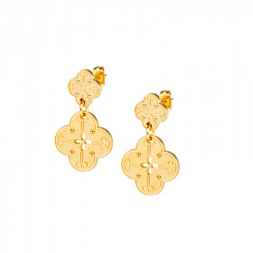 Boucles d'oreilles Trefle simple grande
